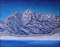 雪晴れの磐梯山