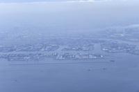 羽田空港上空から見た街並み