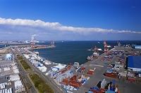 三重県 四日市港ポートビルよりコンテナターミナル 中京工業地帯