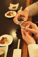 日本酒で乾杯 和食