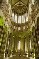 フランス モン・サン・ミッシェル 僧院 回廊