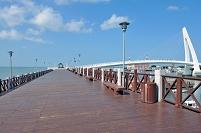 台湾 淡水、漁人碼頭と情人橋