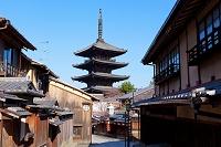 京都府 八坂の塔と町並み