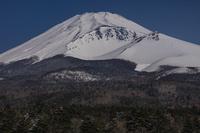 静岡県 冠雪の富士山 宝永火口