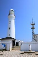 千葉県 犬吠埼灯台と白い郵便ポスト