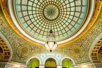 アメリカ シカゴカルチャーセンターのガラスドーム