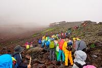 山梨県 富士登山 八合目