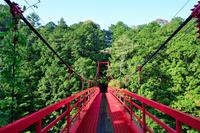 高知県 四万十川に架かる吊り橋「つづらばし」