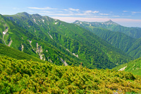 富山県 三俣蓮華岳から笠ケ岳右の山