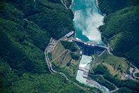 長島ダム放流状況