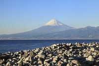 静岡県 大瀬崎 富士山と愛鷹山と駿河湾