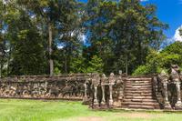 カンボジア アンコール遺跡 象のテラス