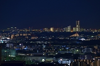 神奈川県 横浜市街とランドマークタワーの夜景