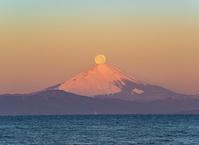 神奈川県 富士山と満月