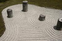 京都府 梅雨時の方丈東庭 東福寺