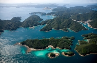 若松島と新上五島の間の島々(五島列島)