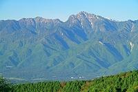 山梨県 八ヶ岳(権現岳)から朝の甲斐駒ヶ岳