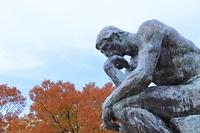 京都府 京都市 京都国立博物館のロダン像