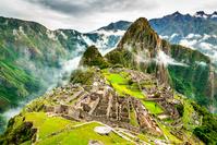 Machu Picchu, Peru - Ruins of Inca Empire city, in Cusco reg...