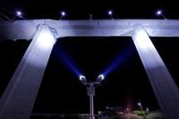 富山県 新湊大橋のライトアップの照明設備
