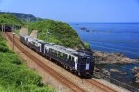新潟県 信越本線と日本海 米山駅 ~ 青海川駅