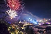オーストリア ザルツブルク 大晦日の花火