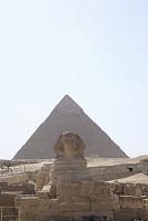 エジプトの風景 カイロ ギザのピラミッド スフィンクス