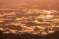 熊本県 高森峠からの夕暮れ