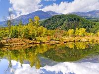 長野県 乗鞍高原 まいめの池と乗鞍岳 一の瀬園地