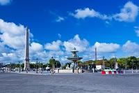 フランス パリ コンコルド広場とエッフェル塔