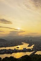 高知県 五台山から望む高知市街