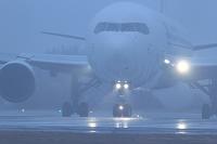 ボーイング767 霧の中 JAL