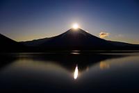 静岡県 田貫湖からのパール富士