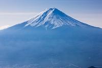 山梨県 富士河口湖町 三つ峠山 頂上 富士山