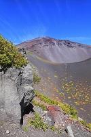 静岡県 富士山 宝永第二火口壁より見る第一火口