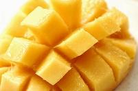 カットされたマンゴー(メキシコマンゴー)