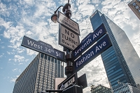 アメリカ合衆国 ニューヨーク 看板 標識