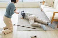 突然倒れた日本人のシニア男性