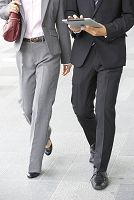 ビジネスマンとビジネスウーマン