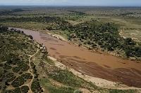 ケニアの空撮風景