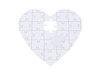 ハート型のジグゾーパズル