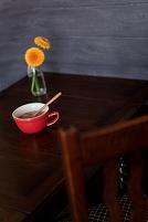 花とカップスープ