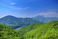 福島県 秋元湖と磐梯山