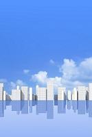 ビル群と青空イメージ CG