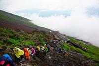 山梨県 富士登山 七合目