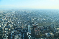 あべのハルカス展望台から望む大阪の街並み