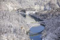 福島県 雪景色の只見線