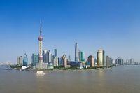 中国 上海 黄浦江と浦東
