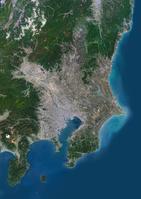 衛星写真 関東地方