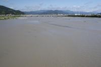 静岡県 台風翌日の安倍川 下流
